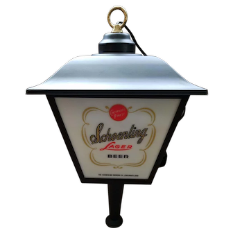 Hanging Advertising Lantern for Schoenling Brewing Co. - Cincinnati, OH - 1960