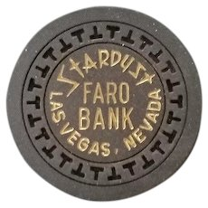 Stardust Faro Bank Chip - Black