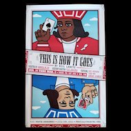 """2008 """"This is How it Goes"""" Theater Poster with Playing Cards"""