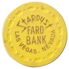 Stardust Faro Bank Chip - Yellow
