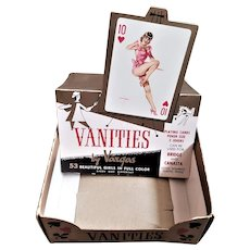 Original Display Box for 12 Packs of Alberto Vargas Vanities Playing Cards