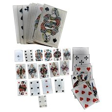 Miscellaneous Group of 44 Miniature Playing Cards - Various sizes - Ca. 1900