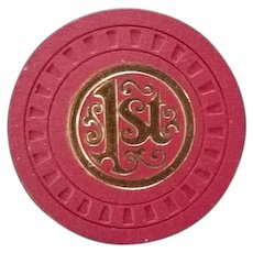 1st National Bank of Chicago poker chip.