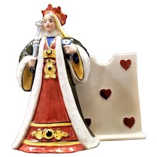 Queen of Hearts china playing card holder