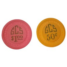Pair of poker chips for an illegal gambling club.