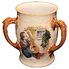 Mettlach Villeroy & Boch Pass Cup or Loving Cup #2260  c 1895
