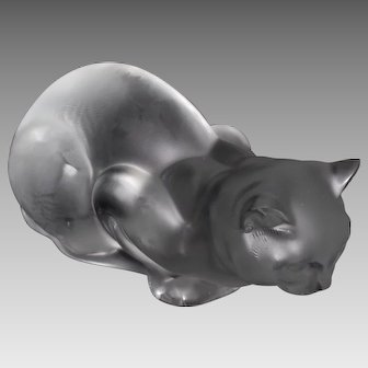 Lalique Crouching Cat