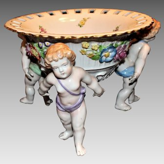 Schierholz Dresden Center Bowl with Cherub Feet - Large 13 1/2""