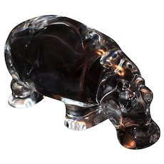 Baccarat Crystal Hippopotamus