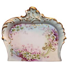 Pretty T&V Limoges Crumb Tray with Violets