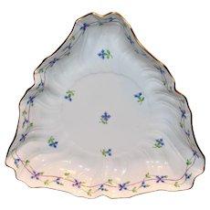Pretty Herend Blue Garland Triangular Bowl