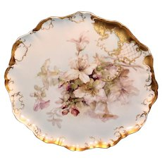 """Very Lovely JP/L Limoge 15 1/2"""" Tray with Lilies"""