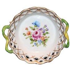 Carl Thieme Reticulated Small Basket c1900