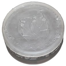 """R Lalique Three Figurines """"Trois Figurines"""" Frosted Box"""