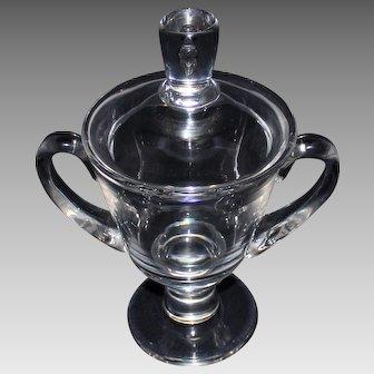 SIgned Steuben Teardrop Covered Jar