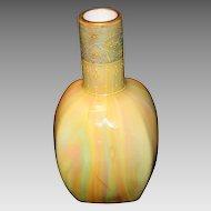 Art Nouveau Loetz Rainbow & Enamel Vase