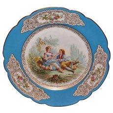 Sevres St Cloud Artist SIgned Portrait Plate