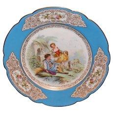Chateau St Cloud Sevres Portrait Plate