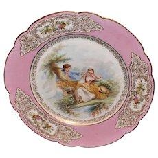 St Cloud Sevres Portrait Plate
