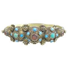 Austro Hungarian Turquoise Garnet Bracelet
