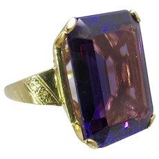 Vintage 14K Color Change Sapphire Ring. Size 6.75