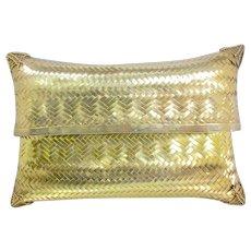 Vintage Gold Vermeil Mesh Pillow Clutch Bag 128 Grams