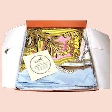 Hermes Silk Scarf Wrap, Musee Bateau A Vapeur De Jouffroy D'abbans  New In Box 36 X 36