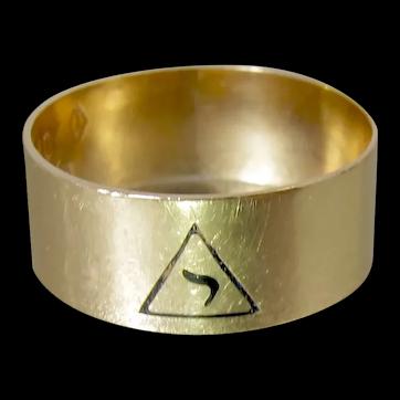 10K Masonic 14th Degree Scottish Rite Ring