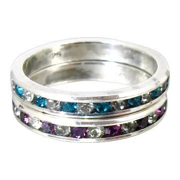 Sterling Silver CZ Eternity Band Rings