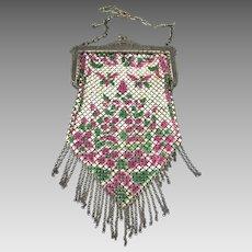 Art Deco Enamel Mesh Purse Mandalian Mfg. Co.,