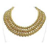 Vintage Rhinestone Collar Necklace