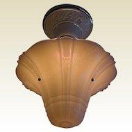 Vintage Custard Glass Light Fixture on Antique Porcelier Porcelain Fitter 10 Available priced each