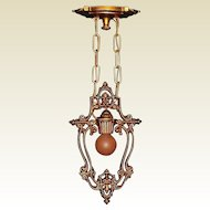 2 1910 Antique Riddle Lighting Fixture Priced Each