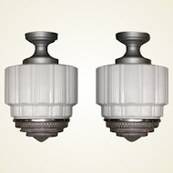 Single Only Large Vintage Department Store or Schoolhouse Electric Ceiling Fixtures.