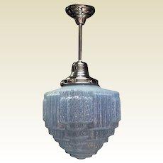 Vintage 12 inch Opalescence Ice Blue Globe