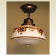Arts & Crafts Design Ceiling Fixture