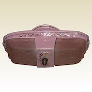 Vintage Pink Porcelain 2 Bulb Ceiling fixture