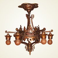 1920s Bronze Spanish Revival Original Finish and Patina 2 available priced each