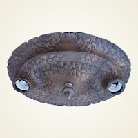 Vintage Cast Iron Arts & Crafts Craftsman Organic Ceiling Fixtures.