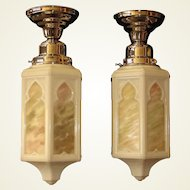 Single Only.  Moorish Style Cathedral Globes