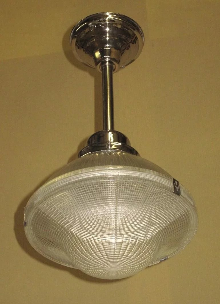 Single Only 1930s Holophane Ceiling Fixtures
