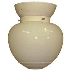 White On White 1920s Ceiling fixture