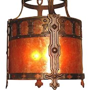 Massive Spanish Revival Drum Fixture