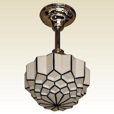 Deco Black Stripped Globe Medium Size