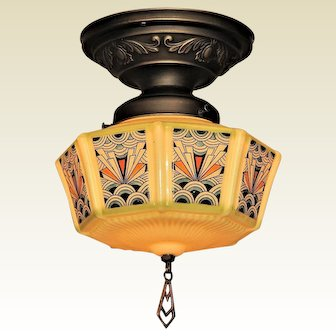 Late 1920s Gill Glass Deco Shade
