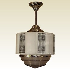 Oversized Art Deco Pendant