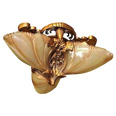 3 Light Birdwing Flush Mount Fixture