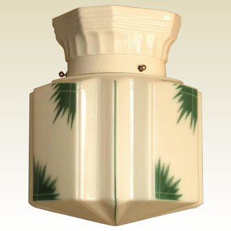 Deco Tropical Shade on Porcelain Fitter