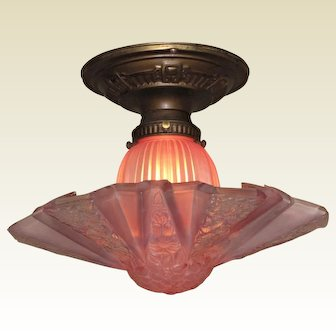 2 Matching Consolidated Mauve Fixtures