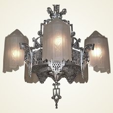Grande Dame of American Art Deco Lighting c.1932...Two available!
